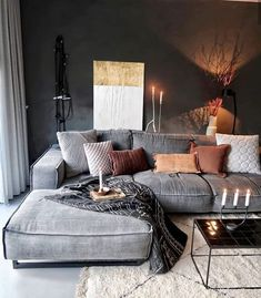 21 grey small living room apartment designs to look&; 21 grey small living room apartment designs to look&; Ramona Rockabella Home 21 grey small living room apartment designs […] living room Boho Living Room, Cozy Living Rooms, Living Room Lighting, Apartment Living, Masculine Living Rooms, Manly Living Room, Rustic Apartment, Cozy Apartment, Home Living