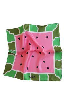 Watermelon Print pocket square