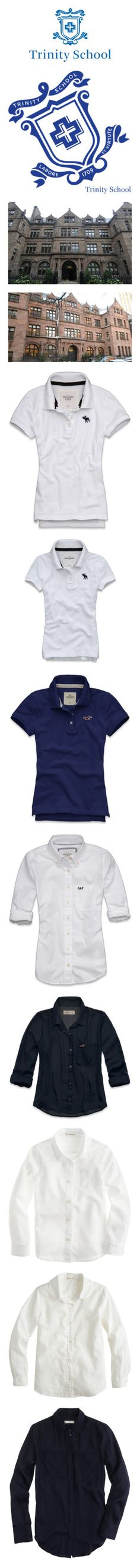 """Charlotte's School Uniform"" by little-ol-me ❤ liked on Polyvore featuring backgrounds, pictures, tops, abercrombie & fitch, abercrombie fitch top, embroidered top, layered tops, shirts, hollister and vintage tops"