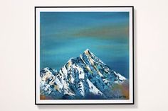 Everest sky digital art print Everest mountain wall art | Etsy Sky Digital, Unicorn Painting, Lake Painting, Original Paintings, Oil Paintings, Mountain Landscape, Beautiful Paintings, Printing Services, Everest Mountain