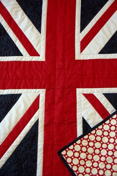 Sale -British Quilt - Baby British Flag - English pride, United Kingdom - ready to ship - pride for Britian, union jack Flag Quilt, Quilt Blocks, Union Jack Decor, Union Flags, British Things, Baby Quilts, Quilt Patterns, Crafty, Jack Flag