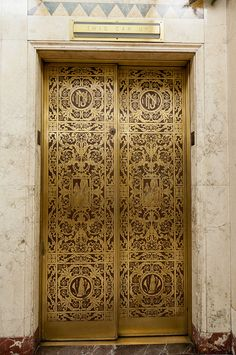 Ornate Elevator Door in San Antonio, Texas