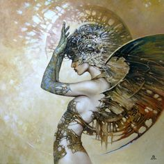 Between Dawn and Dusk Cycle by Artist Karol Bak. #art #painting #fantasy
