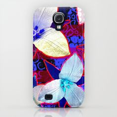 The Patriot Blooms Samsung Galaxy S4 Case #patriotic #floral #flowers #red #blue #skin #original #art #designed for #accessory #tech #phone #Samsung #iPhone #cases by #vikkisalmela.