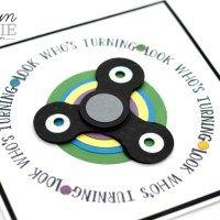Fidget Spinner Card By Carolyn Bennie ... trendy toy in punch art styling ...