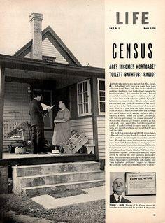 1940 United Stated Census Original Print Ad