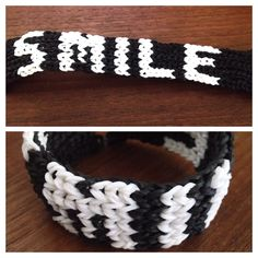 """Smile"" Rainbow Loom bracelet"
