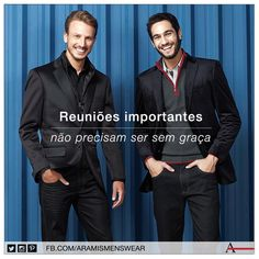 No dia-a-dia do trabalho, combine o blazer de inverno com uma calça jeans black. A combinação é formal, mas garante a você elegância e bom gosto. #estiloaramis #aramismenswear #inverno2014
