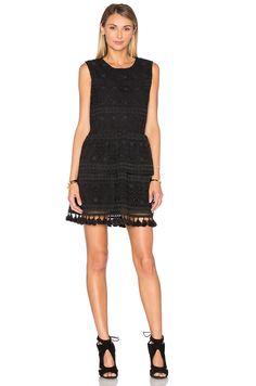 ANINE BING Tassel Lace Dress in Black | REVOLVE