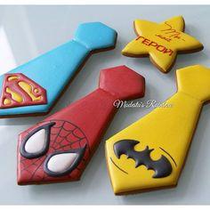 Royal icing decoración super heroes galletas