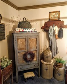 Country Kitchen, Country Life, Country Decor, Prim Decor, Primitive Decor, Country Sampler Magazine, Quilt Display, Country House Design, Room Ideas