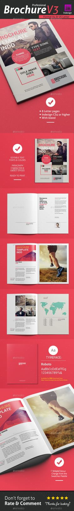 Free soft and clean square indesign brochure template for Indesign templates brochure