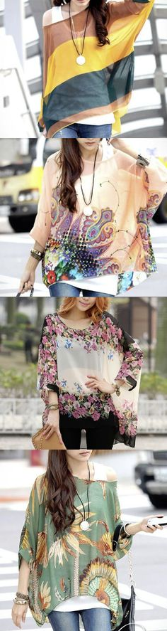 Street fashion. Women's chiffon top.