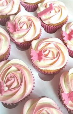Pretty girly cupcakes