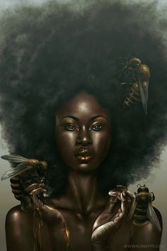 """It's a BEEutiful day! """"Honeycomb"""" - 10/08/2012 alvinepps.com A homage to black beauty, inspired by Sam Spratt's """"Nectar"""" Size/Dimensions : 24×36 in. Tools : 400 series Strathmore drawing paper, 2B/3B/Ebony/ Graphite pencils, Adobe Photoshop CS6  https://www.facebook.com/476590069025736/photos/a.497249366959806.117424.476590069025736/603825549635520/?type=3&theater"""