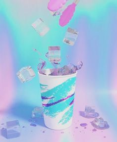 We love these colours #pastel #pink #purple #teal #turquoise #90s #holographic #hologram