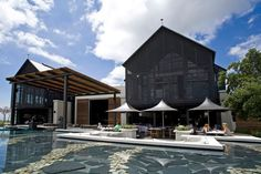Serenity now: reflecting pool at Bistro Steenberg Hotel, Cape Town, South Africa. Architects: Richard Perfect and Jan Desseyn. Online Wine Shop, South African Wine, Cape Town Hotels, Serenity Now, Tasting Room, Wine Tasting, Art And Architecture, Places To Go, House Styles
