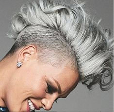 Today we have the most stylish 86 Cute Short Pixie Haircuts. Pixie haircut, of course, offers a lot of options for the hair of the ladies'… Continue Reading → Short Grey Hair, Short Hair Cuts, Short Hair Styles, Grey Hair Mohawk, Grey Hair Undercut, Mohawk Hairstyles, Short Pixie Haircuts, Love Hair, Silver Hair