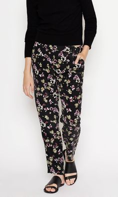 The Hadley Pant, a silk trouser with relaxed appeal, now comes in our attic flora print.
