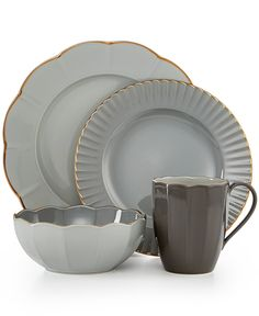 Marchesa by Lenox Dinnerware, Shades of Grey Collection - Fine China - Macy's