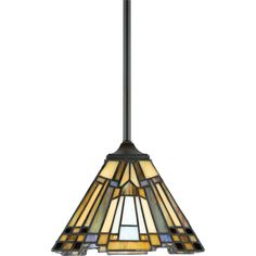 Buy the Quoizel Valiant Bronze Direct. Shop for the Quoizel Valiant Bronze Inglenook 1 Light Mini Pendant with Tiffany Stained Glass and save. Tiffany Stained Glass, Tiffany Glass, Ceiling Pendant, Pendant Lighting, Ceiling Lights, House Lighting, Light Pendant, Quoizel Lighting, Cool Floor Lamps