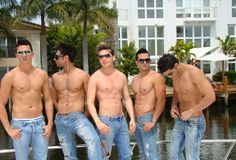 All in denim yessss Live In Jeans, My Family, Blue Jeans, Hot Guys, Eye Candy, Button, Denim, My Love, Boys
