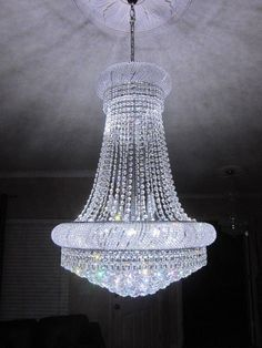 Crystal Chandelier French Empire Chandelier K9 LED light 24x36 Remote CLEARANCE