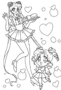 Sailor Moon And Sister Coloring Pages