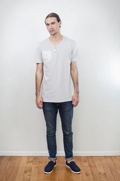 Button Up Tee by ReCreate   Organic Designer Ethical