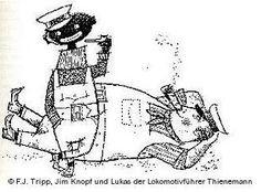 Illustration aus Michael Ende: Jim Knopf und Lukas der Lokomotivführer (Thienemann Verlag)