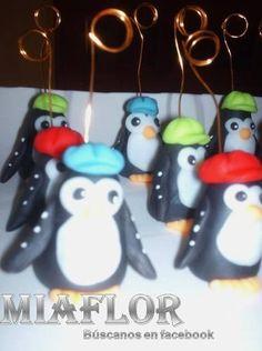 15 Souvenirs Pingüinos Porta Foto O Tarjeta Porcelana Fria