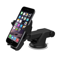 Cool-Tech Easy One Touch Car and Desk Mount Holder for iPhone 6s Plus 6s 5c 5s Samsung Galaxy S7 Edge S6 S5 Note 7 5 HTC Tablets and Other Devices Black -- Awesome products selected by Anna Churchill