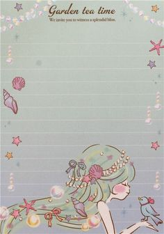 white purple turquoise teddy bear girl block Note Pad by Q-Lia 3
