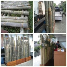 Bamboo background, bamboo photobooth,  giant bamboo decoration.   2, 5cm in height,  300cm in length,  Ready to hire as your photobooth in your wedding or any event that you may have.  For your information about our product and pricelist, contact us via;  FB; Bali Rustic Rental  Instagram : bali rustic rental Email : goesbayuputra@yahoo.com Wa : 089655355052 Ph : 081238076101