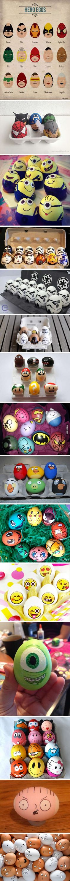 Some awesome Easter Egg ideas for you, if you don't;t want traditional ones