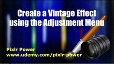 This video looks at a number of processes to adjust an image in from the Adjustment menu and focuses on how to add a vintage effect to an image in Pixlr. Pixlr Power: www.udemy.com/pixlr-power #pixlr #tutorials  #photoediting
