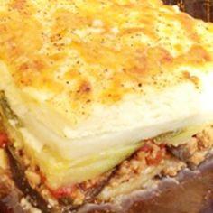 Görög muszaka eredeti recept alapján Fruits And Vegetables, Tofu, Lasagna, Feta, Sandwiches, Cheesecake, Cooking Recipes, Ethnic Recipes, Desserts