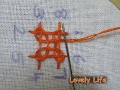 Lovely Life...: Kutchwork Tutorial - The Basic Diamond