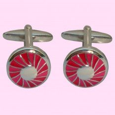 Bassin and Brown Cufflink Collection - Round Concentric Cufflinks - Red/Silver                          http://www.bassinandbrown.com/cufflinks/cufflinks-concentric-round-red-silver.html
