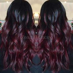 Red ombre . Look at these gorgeous waves.                                                                                                                                                     More