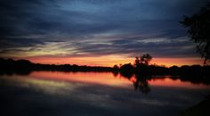 Sunset on the WI River, Stevens Point