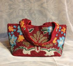 ONE OF MY FAVE BAGS! Small beaded bag. Kinda vintage. Mid 80's when I bought it.