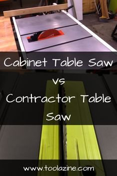 Table Saws Cabinet table saw vs contractor table saw. What are the differences and which is best in each situation Woodworking Patterns, Woodworking Wood, Woodworking Projects, Circular Saw Reviews, Best Circular Saw, Wood Table, A Table, Power Tool Organizer, Cabinet Table Saw
