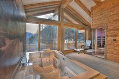 Infrared Sauna and 2-person jacuzzi in the spa | Alpenchalet am Wildkogel | Bramberg am Wildkogel | Austria