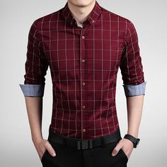 Gender: Men Item Type: Shirts Material: Cotton Sleeve Length: Full size Cross Shoulder(cm) Chest Width(cm) Body Length(cm) Sleeve Length(cm) M 42 98 69 60 L 43 102 71 61 XL 45 106 73 62 XXL 46 110 75