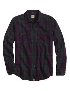 Dockers - The Flannel Shirt - Aubergine - ($40)
