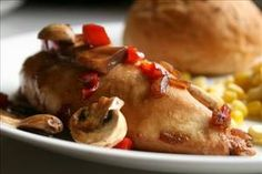 Baked Chicken with Mushrooms & Peppers - Recipe Details