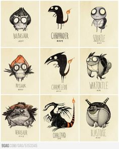 Tim Burton inspired Pokémon Re-Designs