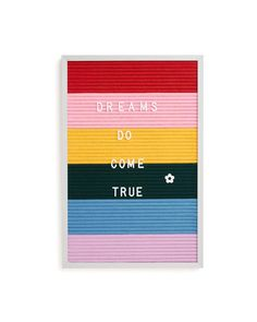 Rainbow Felt Letter Board by threepotatofour - letter board - ban.do