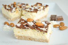 | Almond Joy Protein Cheesecake Bars | http://www.macro-chef.com